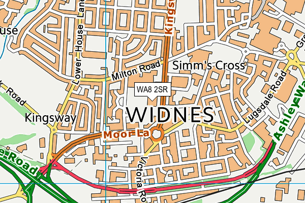 WA8 2SR map - OS VectorMap District (Ordnance Survey)
