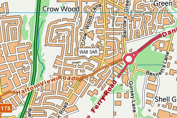 WA8 3AR map - OS VectorMap District (Ordnance Survey)
