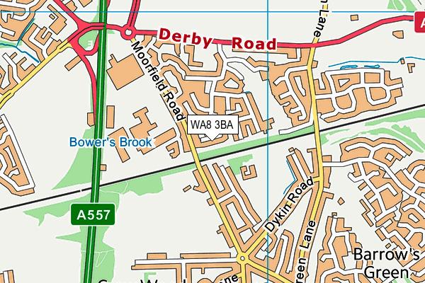WA8 3BA map - OS VectorMap District (Ordnance Survey)