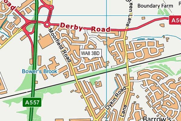 WA8 3BD map - OS VectorMap District (Ordnance Survey)