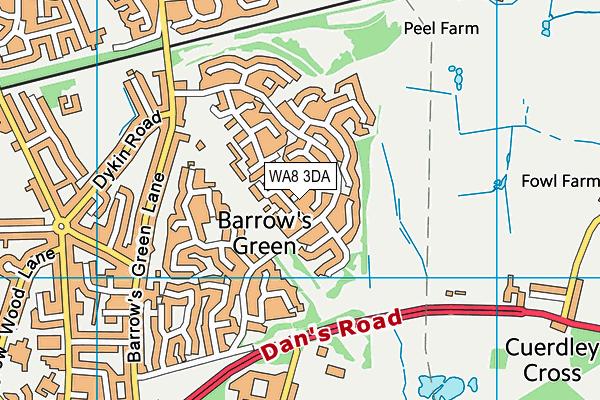 WA8 3DA map - OS VectorMap District (Ordnance Survey)