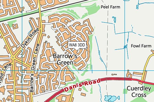 WA8 3DD map - OS VectorMap District (Ordnance Survey)