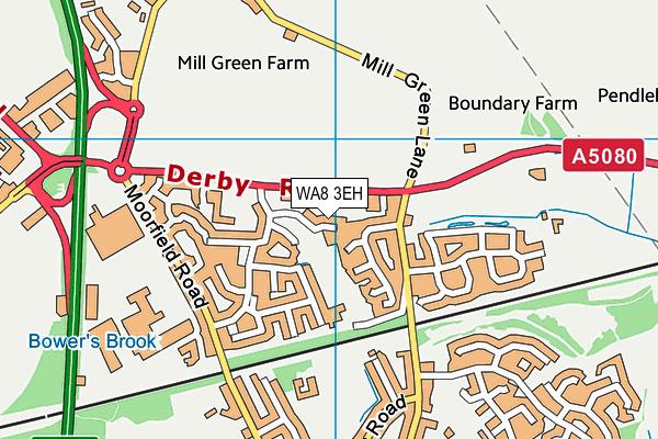 WA8 3EH map - OS VectorMap District (Ordnance Survey)