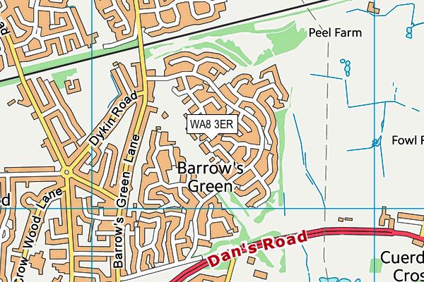 WA8 3ER map - OS VectorMap District (Ordnance Survey)
