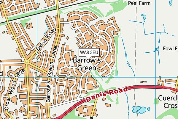 WA8 3EU map - OS VectorMap District (Ordnance Survey)