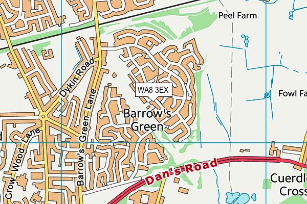 WA8 3EX map - OS VectorMap District (Ordnance Survey)