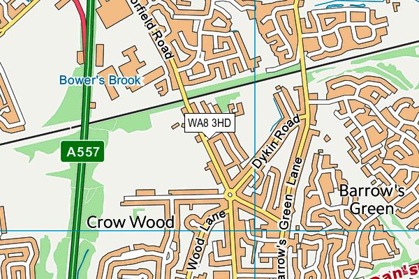 WA8 3HD map - OS VectorMap District (Ordnance Survey)