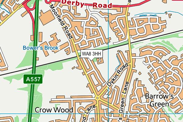 WA8 3HH map - OS VectorMap District (Ordnance Survey)