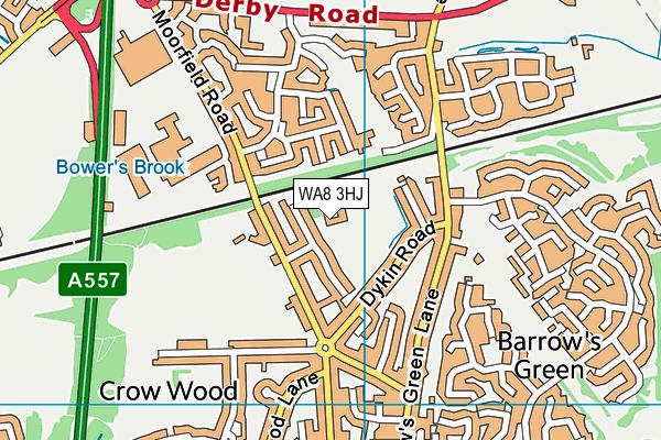 Moorfield Primary School map (WA8 3HJ) - OS VectorMap District (Ordnance Survey)
