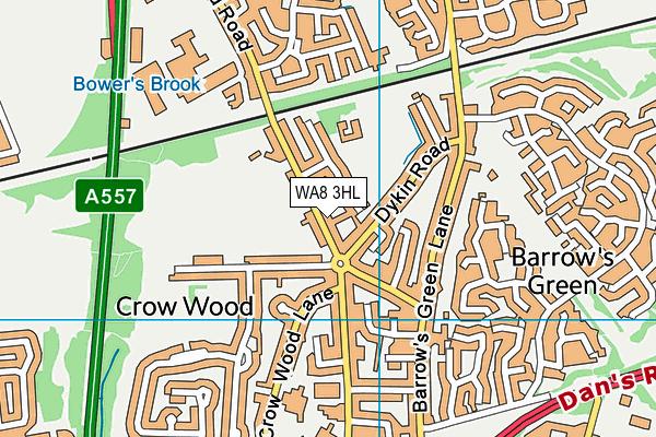 WA8 3HL map - OS VectorMap District (Ordnance Survey)