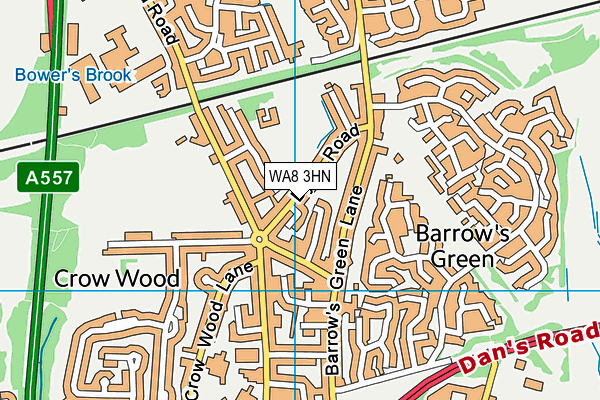 WA8 3HN map - OS VectorMap District (Ordnance Survey)