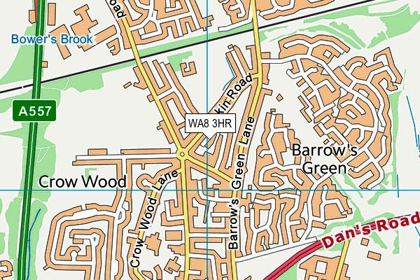 WA8 3HR map - OS VectorMap District (Ordnance Survey)