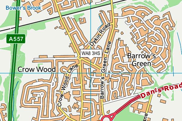 WA8 3HS map - OS VectorMap District (Ordnance Survey)