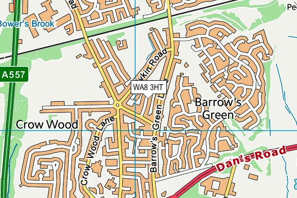 WA8 3HT map - OS VectorMap District (Ordnance Survey)
