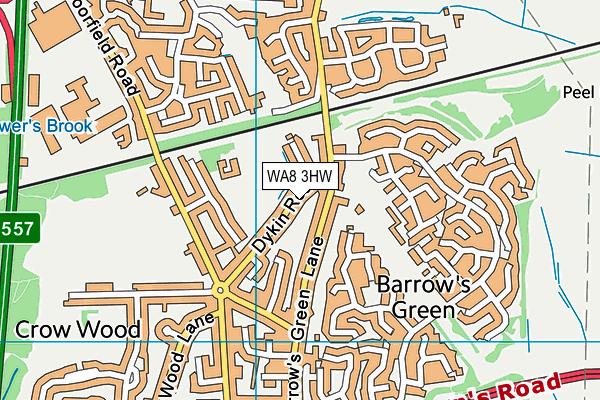 WA8 3HW map - OS VectorMap District (Ordnance Survey)