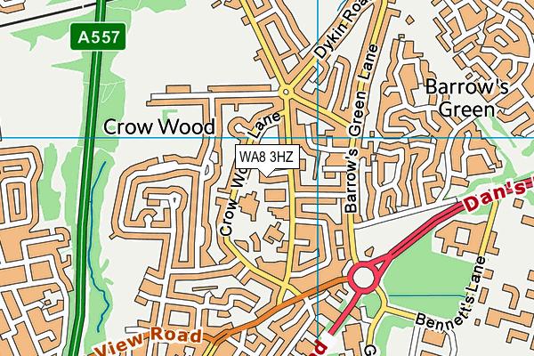 WA8 3HZ map - OS VectorMap District (Ordnance Survey)