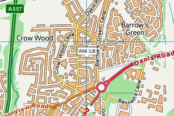 WA8 3JB map - OS VectorMap District (Ordnance Survey)