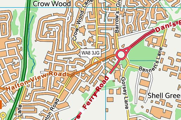 WA8 3JG map - OS VectorMap District (Ordnance Survey)