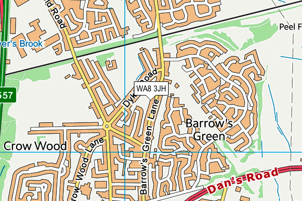 WA8 3JH map - OS VectorMap District (Ordnance Survey)
