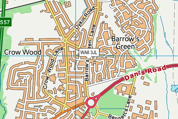 WA8 3JL map - OS VectorMap District (Ordnance Survey)