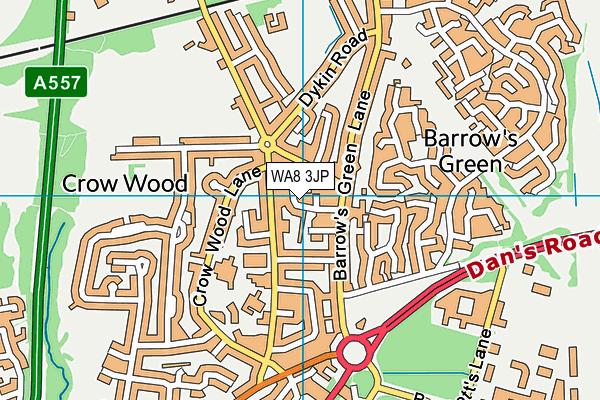 WA8 3JP map - OS VectorMap District (Ordnance Survey)