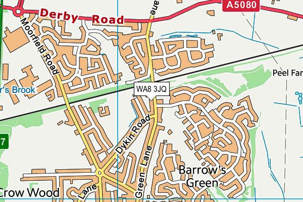 WA8 3JQ map - OS VectorMap District (Ordnance Survey)