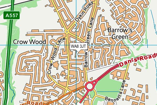 WA8 3JT map - OS VectorMap District (Ordnance Survey)