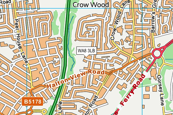 WA8 3LB map - OS VectorMap District (Ordnance Survey)