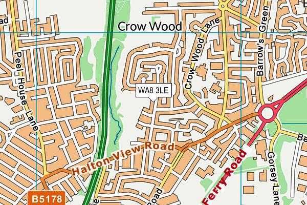 WA8 3LE map - OS VectorMap District (Ordnance Survey)