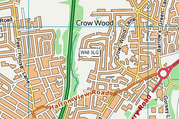 WA8 3LG map - OS VectorMap District (Ordnance Survey)