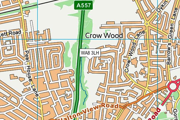 WA8 3LH map - OS VectorMap District (Ordnance Survey)