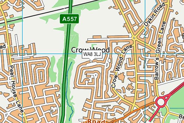 WA8 3LJ map - OS VectorMap District (Ordnance Survey)