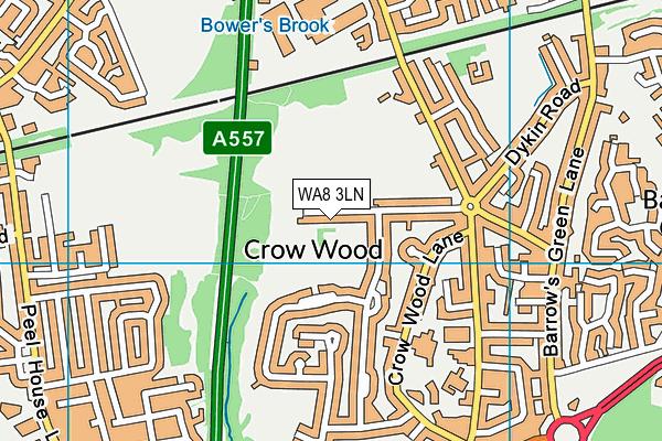 WA8 3LN map - OS VectorMap District (Ordnance Survey)