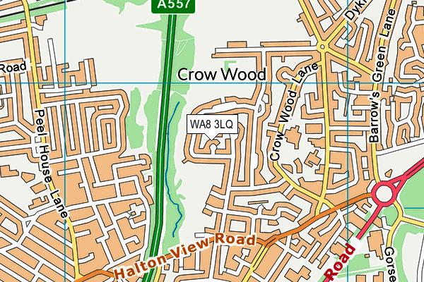 WA8 3LQ map - OS VectorMap District (Ordnance Survey)