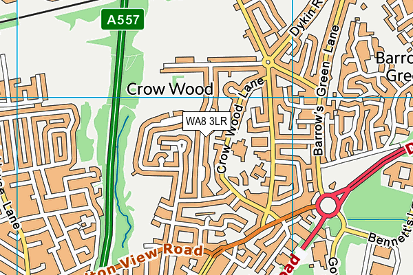 WA8 3LR map - OS VectorMap District (Ordnance Survey)