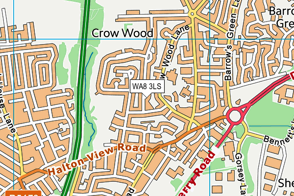 WA8 3LS map - OS VectorMap District (Ordnance Survey)
