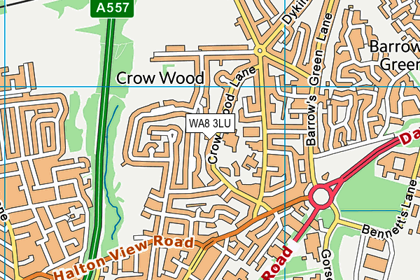 WA8 3LU map - OS VectorMap District (Ordnance Survey)