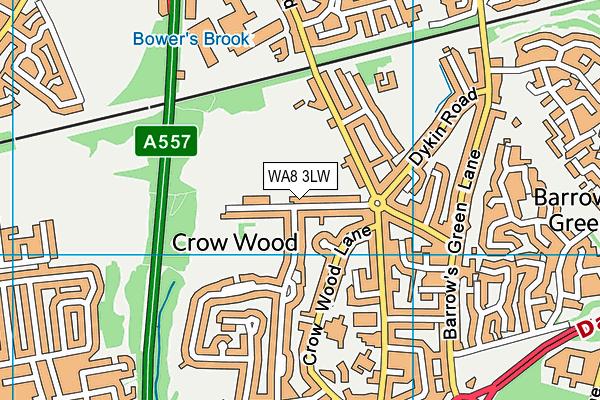 WA8 3LW map - OS VectorMap District (Ordnance Survey)