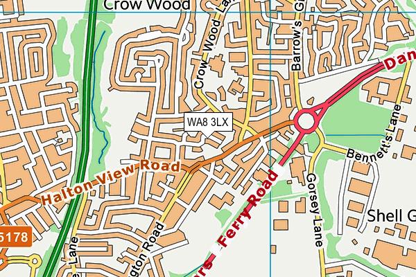 WA8 3LX map - OS VectorMap District (Ordnance Survey)