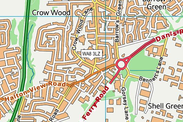 WA8 3LZ map - OS VectorMap District (Ordnance Survey)