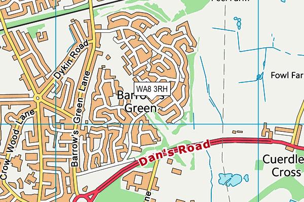 WA8 3RH map - OS VectorMap District (Ordnance Survey)