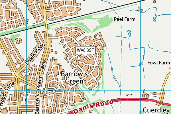 WA8 3SF map - OS VectorMap District (Ordnance Survey)