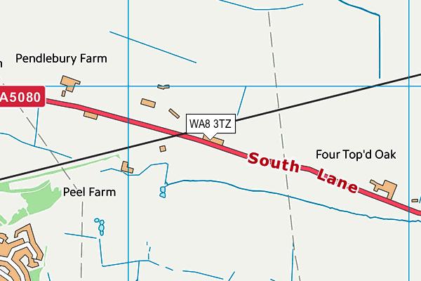 WA8 3TZ map - OS VectorMap District (Ordnance Survey)