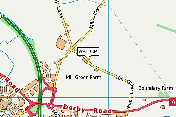 WA8 3UP map - OS VectorMap District (Ordnance Survey)