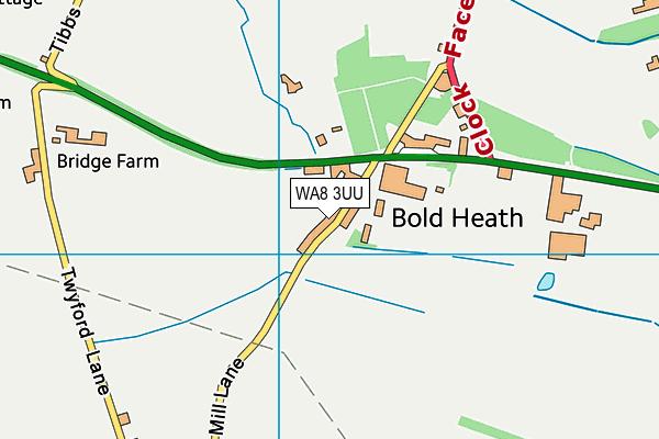 WA8 3UU map - OS VectorMap District (Ordnance Survey)