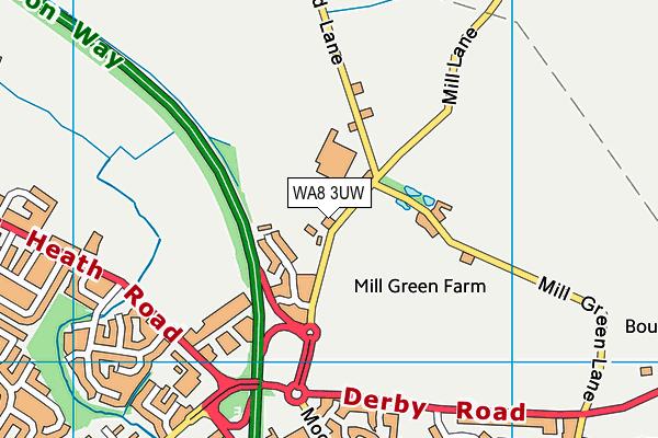 WA8 3UW map - OS VectorMap District (Ordnance Survey)