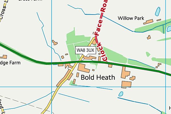 WA8 3UX map - OS VectorMap District (Ordnance Survey)