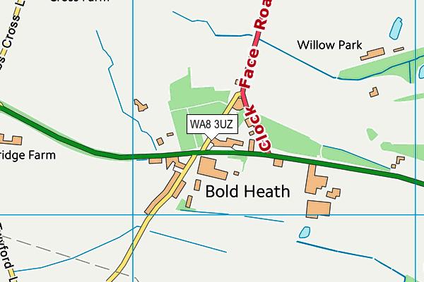 WA8 3UZ map - OS VectorMap District (Ordnance Survey)