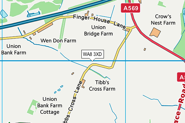 WA8 3XD map - OS VectorMap District (Ordnance Survey)