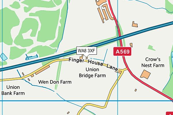 WA8 3XF map - OS VectorMap District (Ordnance Survey)